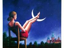 Kobieta z nogami na księżycu i Wawel, 2018