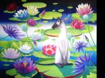 Oriental cat on a lake, 2020