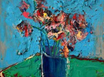 Blue chrysanthemums, 2015